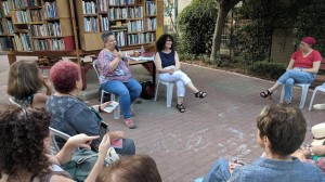 Beit Hava'ad photo 2 (Me smiling at audience as Pnina speaks) - August 5 2019